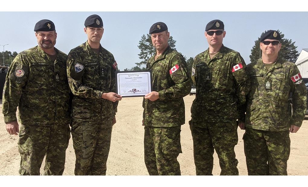 TFL Comd's Commendation – Capt Mosnier