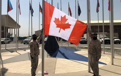 Change of Flag – Hamid Karzai International Airport, Kabul Afghanistan