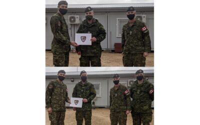MCpl J.D. Hunt & Cpl C.S.J. Duplessis-Daigle – TFL Commander's Commendations