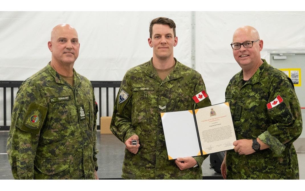 CJOC Comd's Commendation – Cpl Krosse