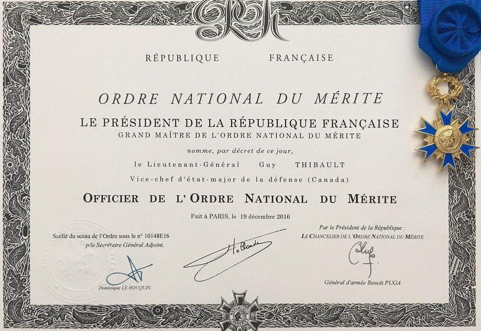 LGen Guy Thibault - Ordre du Merite