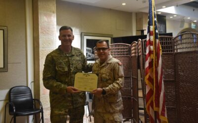 Maj Pinto Canas Receives the United States of America's Joint Service Achievement Medal