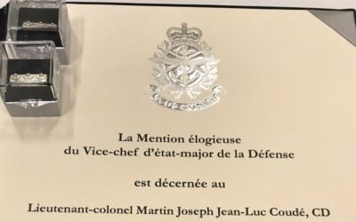 VCDS Commendation – LCol Martin Coudé