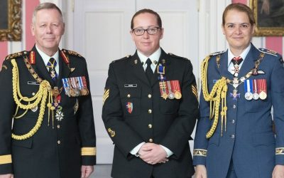 Sgt Helen Hawes, MMM, CD invested into the Order of Military Merit (OMM)
